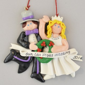 The Las Vegas Bride and Groom personalized christmas Ornaments