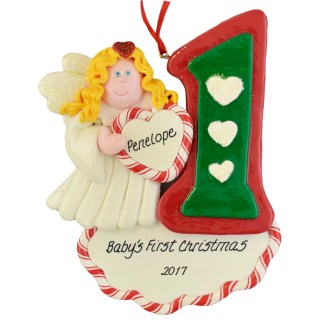Angel Baby's First Christmas personalized ornaments