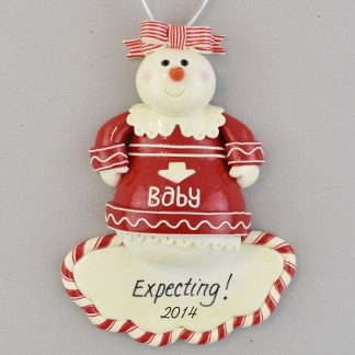 Expecting Mother-to-Be personalized Christmas Ornaments