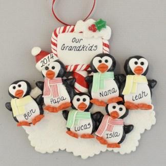 Our Four Grandchildren Personalized Christmas Ornaments