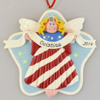 Angel USA Blonde personalized christmas Ornaments
