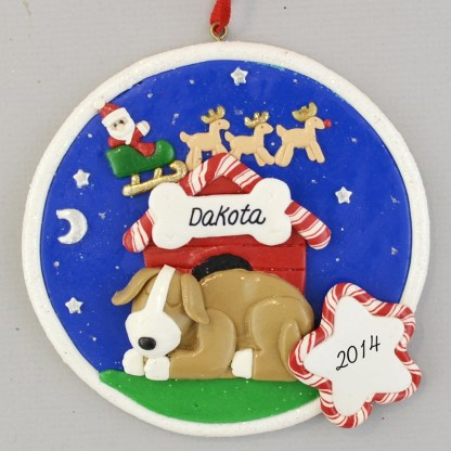 Brown Dog personalized Christmas Ornaments