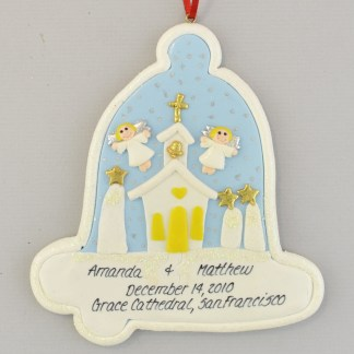 Church and Wedding Christmas Ornament