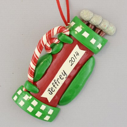 Golf Bag Personalized christmas Ornaments