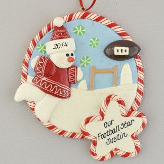 Football Star Personalized Christmas Ornaments