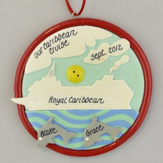Cruise Ship Personalized Christmas Ornament