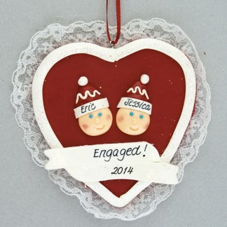 Heart Engagement Personalized Ornament