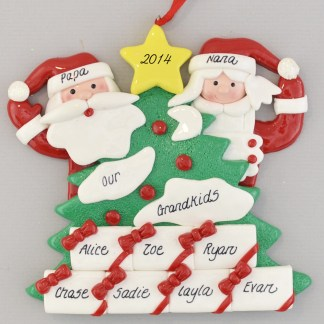 Personalized Tree with 7 Gifts Christmas Ornaments