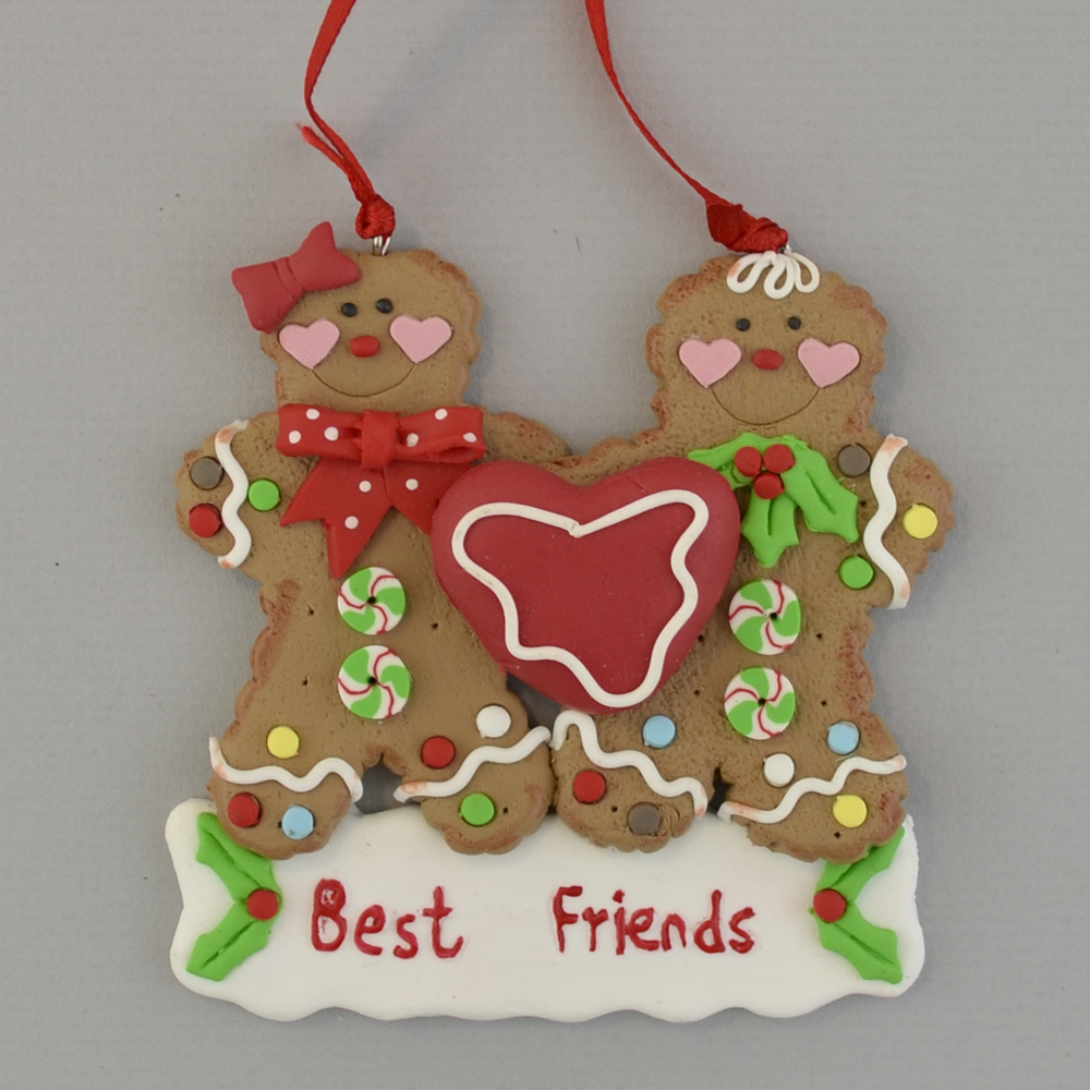 gingerbread best friends personalized christmas ornament