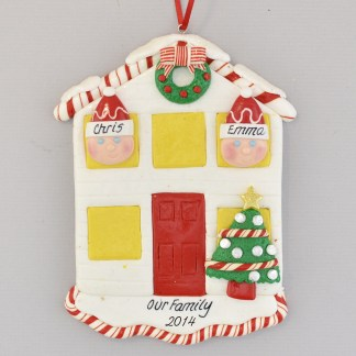House for a Couple Personalized Christmas Ornament
