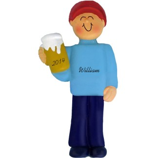Beer Drinker/21st Birthday Boy Personalized Ornament