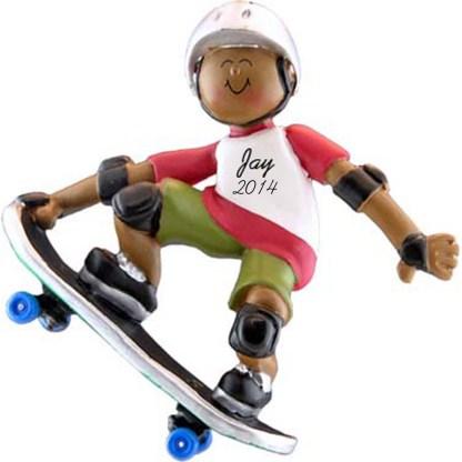Skateboarder: Male Personalized Ornament