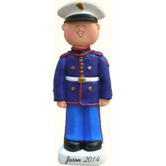 Armed Forces: Marine, Male Personalized christmas Ornament