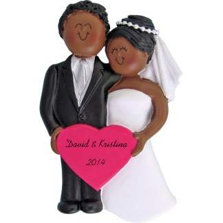 Wedding Day Personalized Christmas Ornament