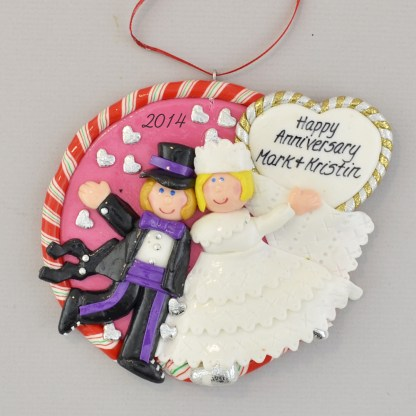 Personalized first married christmas ornament