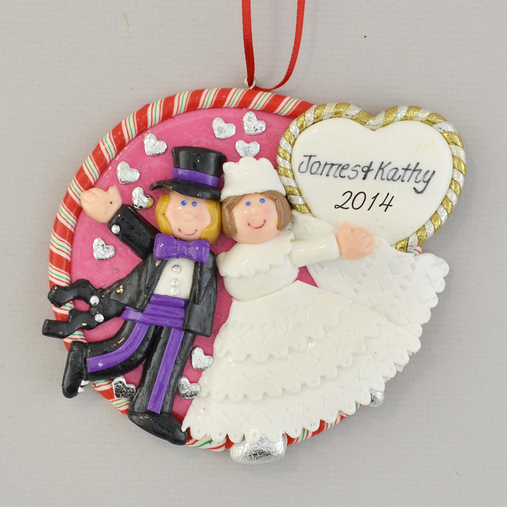 Bride and Groom Personalized First Christmas Ornament