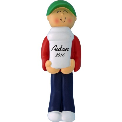 coffee drinder male personalized christmas ornament