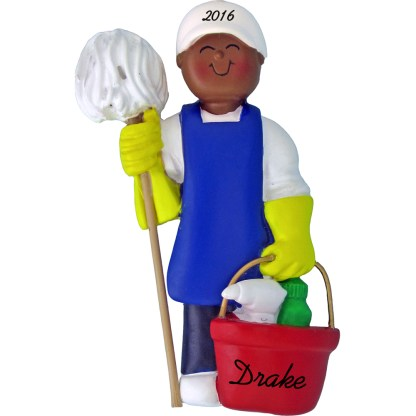 male house cleaner personalized christmas ornament