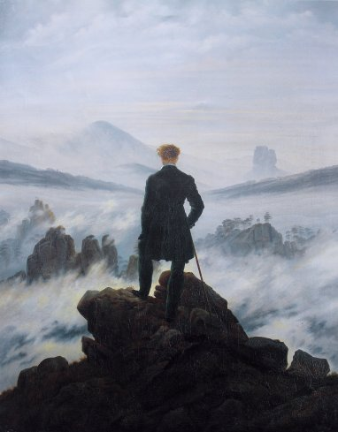 Wanderer above the sea of fog, by Caspar David Friedrich