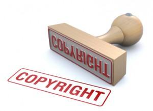 tampon copyright sur les droits d'auteur