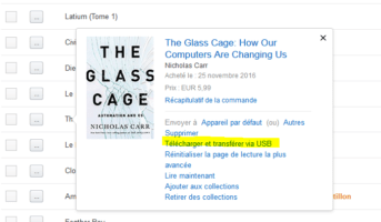 Kindle & Calibre ou comment oublier les drm - C@llipédieC