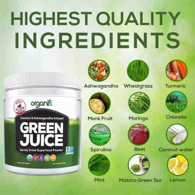 Second close looking view of the Best Greens Supplement
