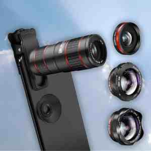 This is a cell phone camera lens that symbolizes the potential of the new generation