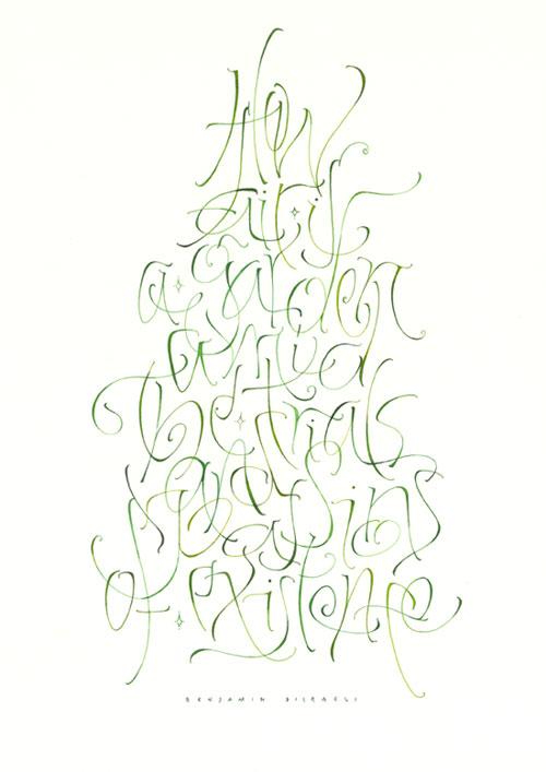 SchriftBilder  Kalligraphie Hoyer