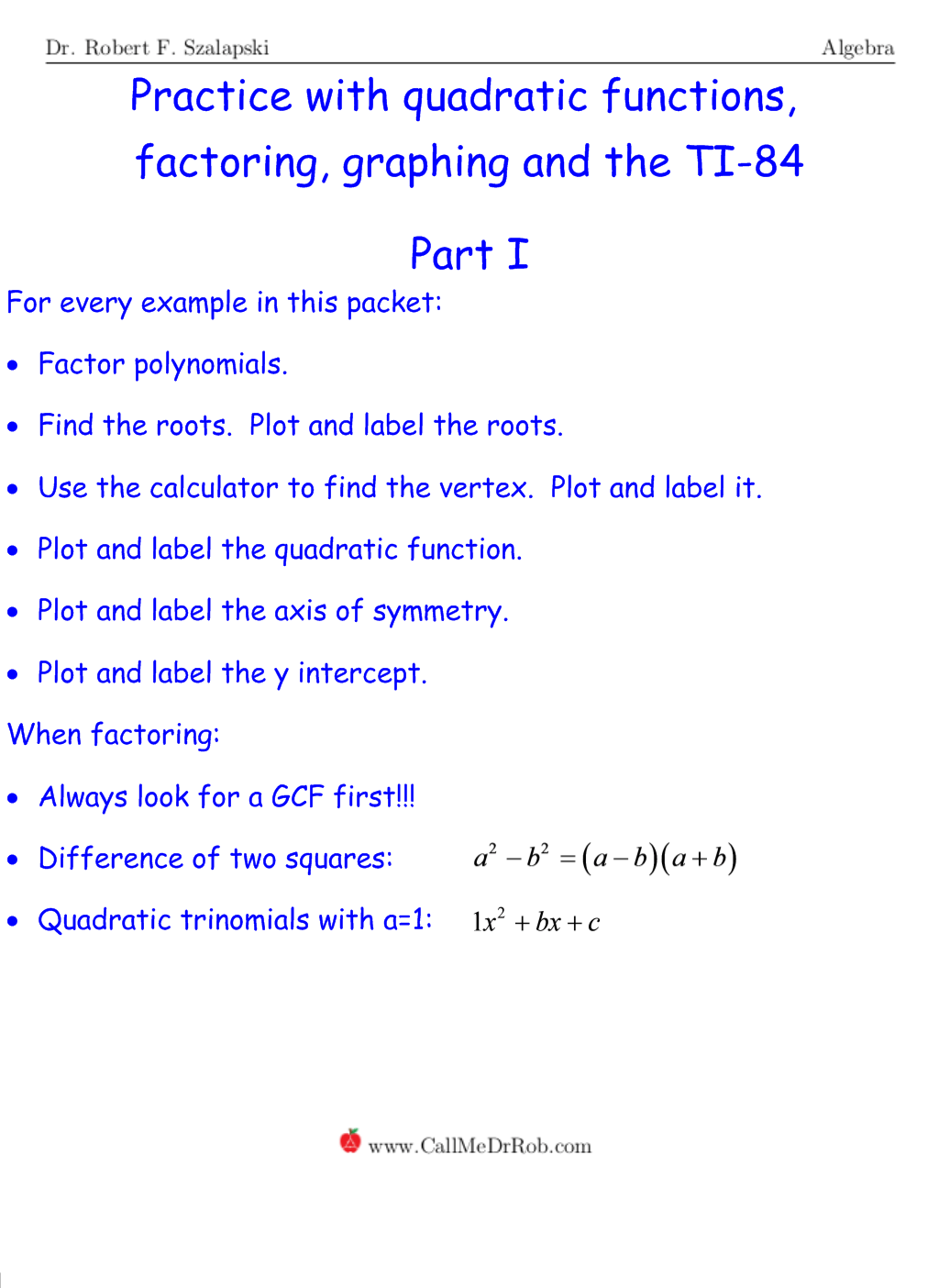 Graphing Quadratic Equations Calculator
