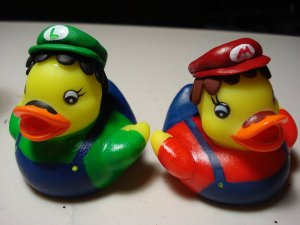 Mario_and_Luigi_ducks_by_spongekitty