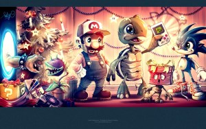 7038156-video-games-portal-tetris-super-mario-companion-cube-christmas-bowser-plants-vs-zombies-sonic-game-boy-art