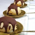 Chocolate coated hokey pokey ice cream