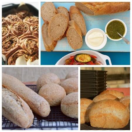 Collage of easy everyday bread varieties