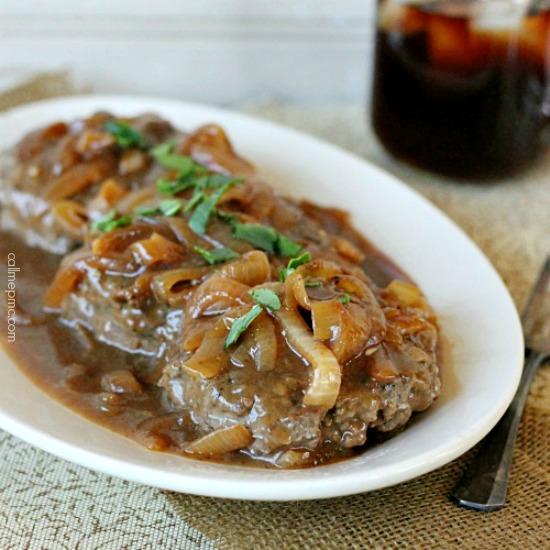 Chicken Fried Hamburger With White Gravy: Hamburger Steak With Onions And Brown Gravy Recipe » Call