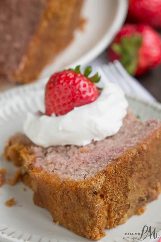 Real Fruit Strawberry Buttermilk Pound Cake No Jello or