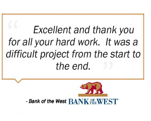 Bank of the West Testimonial
