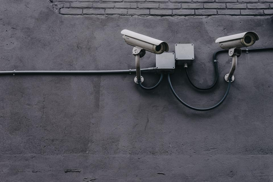 security cameras in a bank