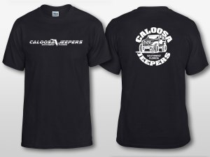 Caloosa Jeepers Mens Black Logo Tshirt Short Sleeves