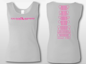 Caloosa Jeepers Ladies White Grills Tank
