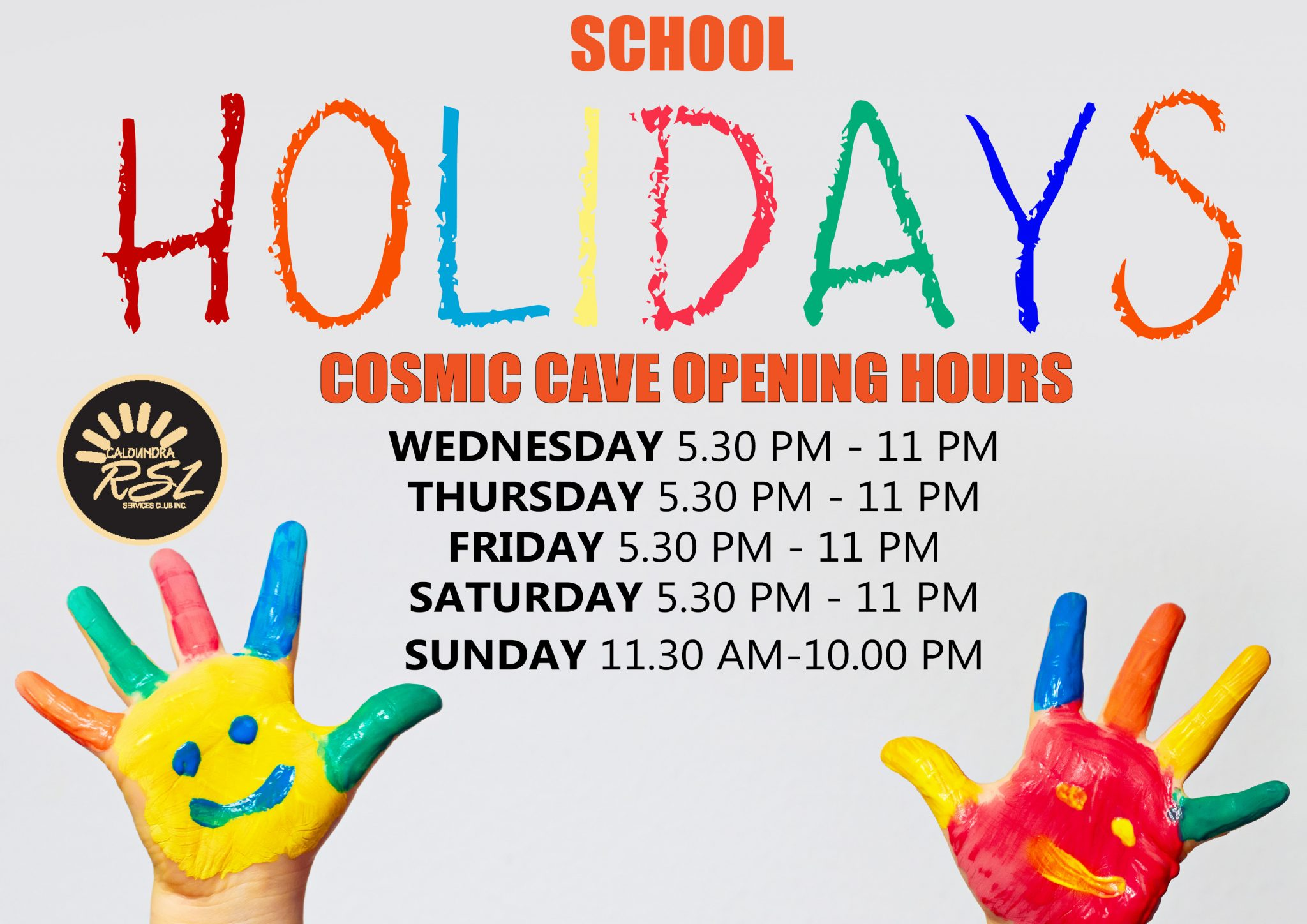 cosmic cave opening july HOLIDAYS a1 side