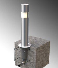 Stainless Steel Pipe Bollard Covers.Lighted Bollards