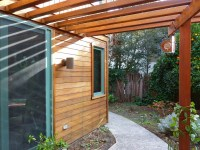 Overstained Redwood Siding   Cal Preserving