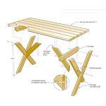 construction picnic table