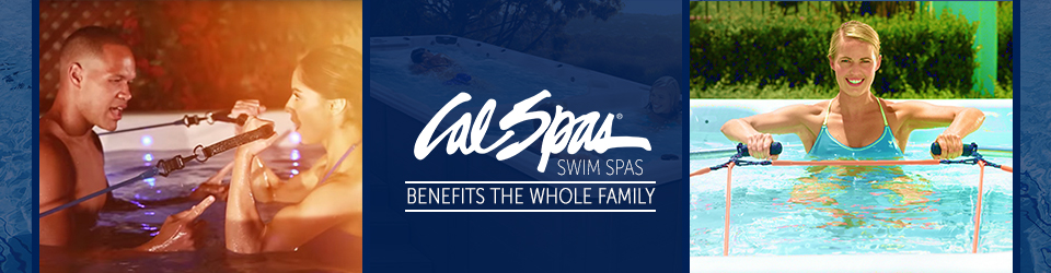 A Home Aquatic Workout For Your Entire Family with a Cal Spas Fitness Swim Spa