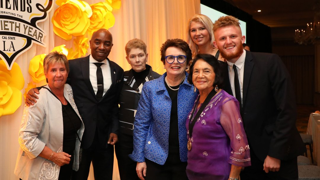 Billie Jean King with award winners at the 20th Billie Jean King & Friends Gala