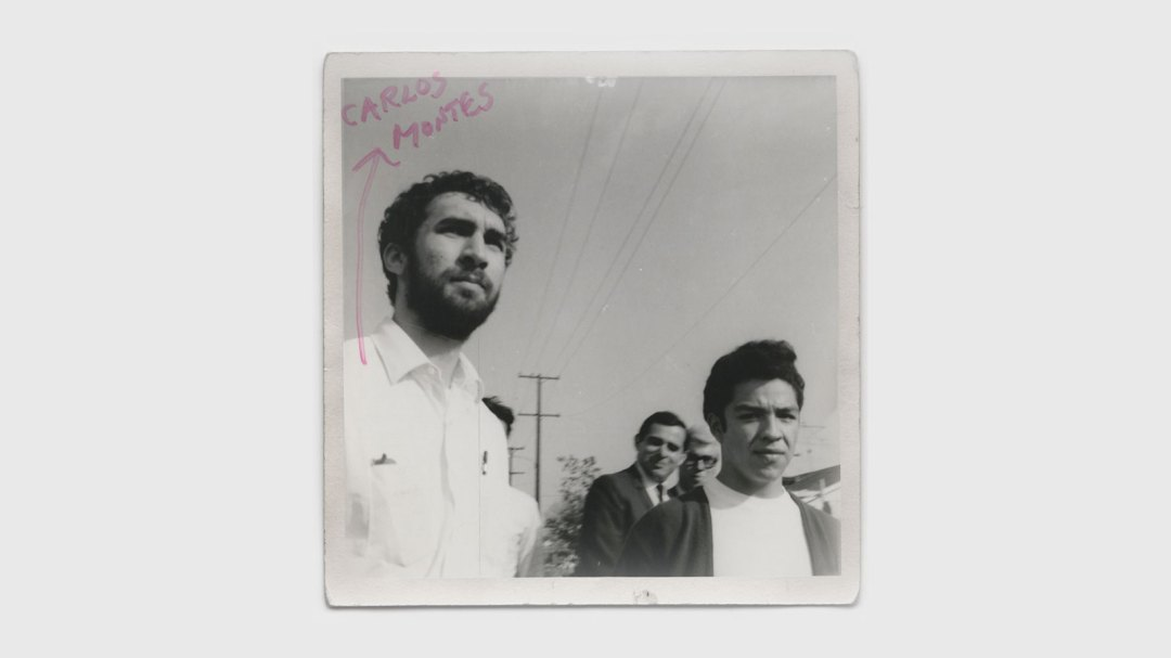 Photo of a group of Chicano students in East L.A. circa 1968.