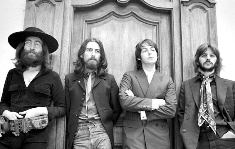 """Photo of the Beatles, part of Ethan Russel's film """"The Best Seat in the House"""""""