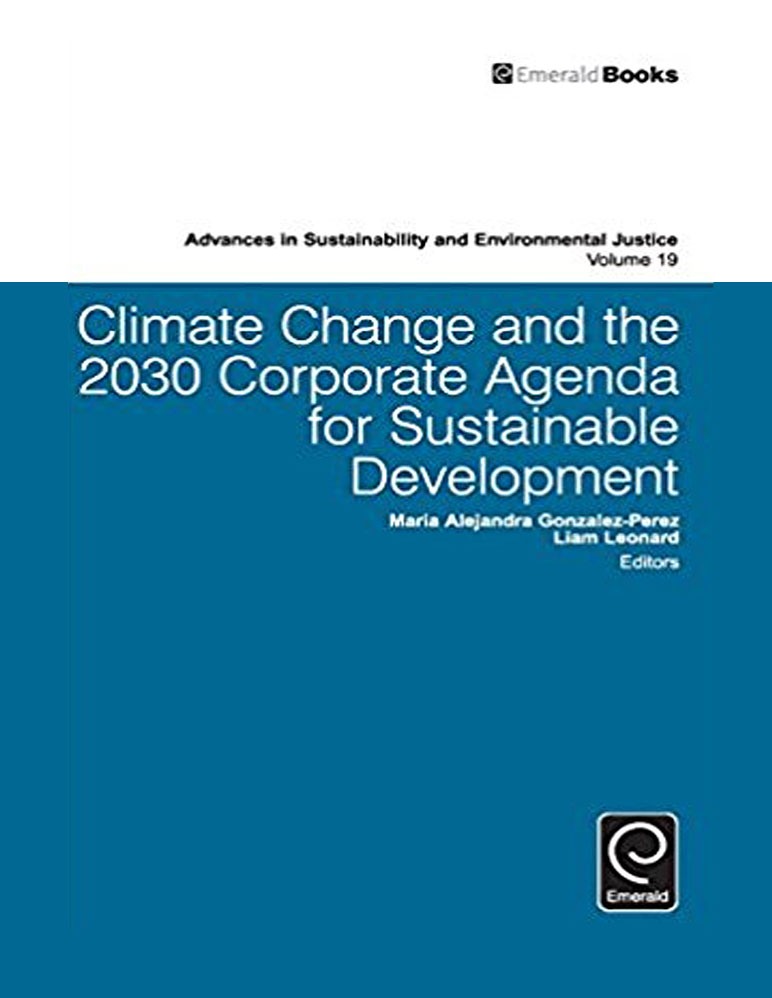 """Book cover for """"Climate Change and the 2030 Corporate Agenda for Sustainable Development"""""""