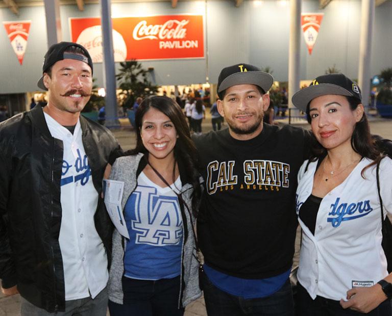Alumni reunite at Dodger stadium for Cal State LA Night.