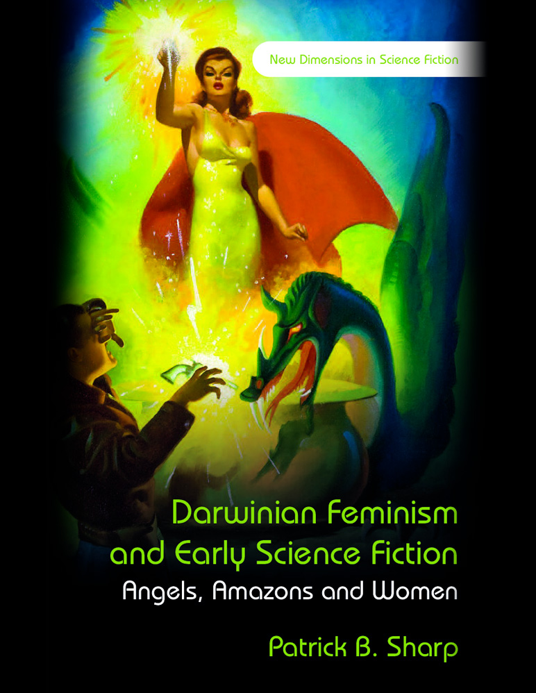 """Book cover for """"Darwinian Feminism and Early Science Fiction"""""""